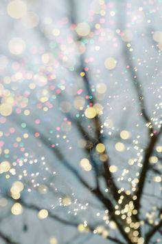 Pretty pastel fairy lights.