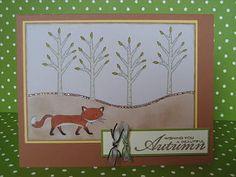 Stamped and Delivered: Fall Fox #amusestudio #stampedanddelivered
