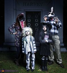 Stephanie: My family loves Halloween and finding costumes that all relate to one another (Alice in Wonderland, super heroes, policeman and prisoners, etc) Beetlejuice seemed like a tough but awesome family...