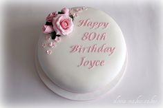 80th Birthday Cake. Parfois + c'est simple, + c'est beau...