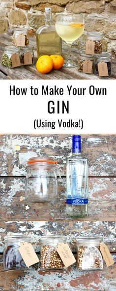 How to Make Your Own Gin Ever wanted to make your own gin? It's as simple as mixing a neutral base spirit (like vodka) with botanicals. Here's a simple guide to making homemade gin! Make Your Own Gin, How To Make Gin, Refreshing Cocktails, Cocktail Drinks, Alcoholic Drinks, Raspberry Mojito, Homemade Alcohol, Gin Recipes, Craft Gin