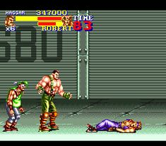 "* A click on the image will move you to the corresponding page.  SNES beat 'em up video game, ""Final Fight 2"" playing image ""Stage2"".   #SNES #Beat_em_up #GAME #Capcom #FinalFight2"