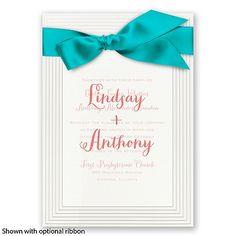 Elegant Tradition - Bright White / Personalized Vellum Invitation | Invitations By David's Bridal