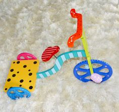 Wooden tricycle Tricycle, Kids Rugs, Hand Painted, Outdoor Decor, Crafts, Home Decor, Manualidades, Decoration Home, Kid Friendly Rugs