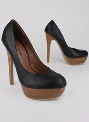 Black and brown pumps