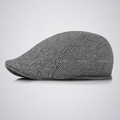 Wool Herringbone Newsboy Gatsby Cap Ivy Hat Golf Mens Flat Cabbie Stripe 93984c806e44