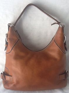 Michael Kors Hobo Everyday Shoulder Bag British Tan Smooth Leather Belted Buckle in Clothing, Shoes & Accessories, Women's Handbags & Bags, Handbags & Purses | eBay