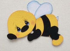 Lazy Bee Insect Animal Premade Paper Piecing Die Cut My Tear Bears Kira Baby Cards, Kids Cards, Foam Crafts, Paper Crafts, Baby Bumble Bee, Punch Art Cards, Bee On Flower, Paper Piecing Patterns, Kirigami