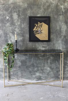 Carrara Marble Console Table - Black Marble - View All - Furniture