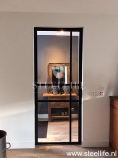 Luxury Interior Design, Modern Interior, Steel Frame Doors, Hallway Flooring, Entry Hallway, Bedroom Doors, Sliding Doors, Glass Door, Interior Inspiration