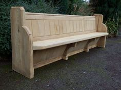 Church pew, bench, seat, Victorian, antique, cedar, 8ft 3ins (could be reduced)
