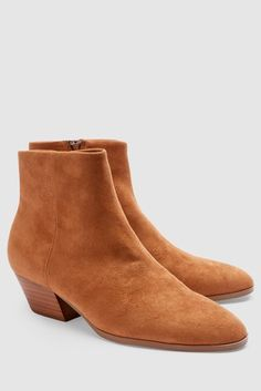 Womens Next Tan Slant Heel Ankle Boots - Brown Tan Boots, Brown Ankle Boots, Across Body Bag, Women's Accessories, Chelsea Boots, Shopping Bag, Pairs, Heels, Leather
