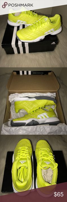 Adidas Adidas Barricade 2016 Eco Ortholite Tennis. Size 4. Brand new in box - never used. Nike Shoes Athletic Shoes