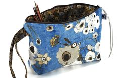 Image of Knitting Crochet Project Clutch - Fiori Blue