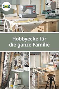 You want you a hobby workshop set up and looking for the right advice? IKEA shows you different ideas for your hobby. Home Gym Decor, Home Office Setup, Home Office Organization, Home Office Space, Home Gym Design, Home Interior Design, Design Design, Parisian Style Bedrooms, Ikea Home