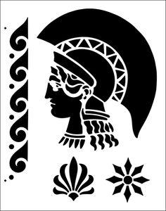 Greek stencil from The Stencil Library online catalogue. Buy stencils online. Stencil code TP12.