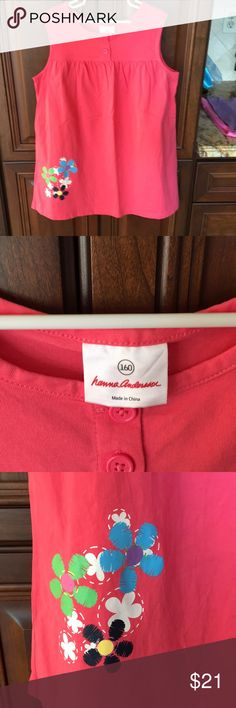 Hanna Andersson Dk. Peach/Coral color. EUC Hanna Andersson Dresses Casual