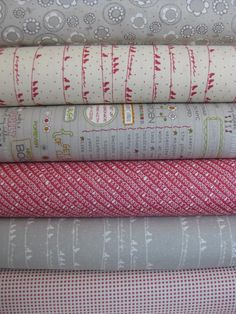 Sweetwater, Noteworthy, Cloudy Kisses in FAT QUARTERS, 6 Total