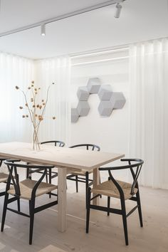 The Danish flooring company Dinesen and cabinetmaker Garde Hvalsøe have opened the doors to a new showroom in the historic landmark buil. Contemporary Dining Table, Contemporary Interior, Dining Room Design, Kitchen Design, Metal Daybed, Plank Table, Interior Architecture, Interior Design, Room Interior