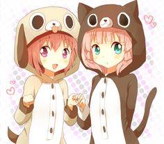 Akari and Chinatsu! (YuruYuri!)