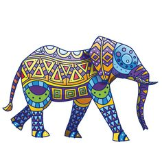 28 Mejores Imágenes De Elefantes Hindúes Pintados A Mano Paint