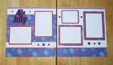 SOLD - Fourth of July Scrapbook Layout  4th of July by AngelBDesigns4You