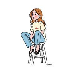 Ideas for fashion girl sketch art illustrations Cute Illustration, Character Illustration, Art Illustrations, Human Drawing, Dibujos Cute, Girl Sketch, Polychromos, Aesthetic Art, Cartoon Art