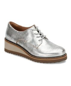 7e81cd75716 Another great find on  zulily! Silver Salerno Leather Wedge Oxford - Women   zulilyfinds