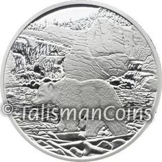 Canada 2006 Nahanni National Park with Grizzly Bear $20 Pure Silver Proof