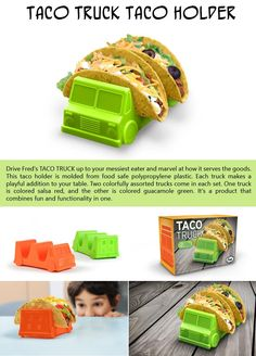 The taco truck has arrived! Keep your little ones amused and ready to devour the contents of the truck in a flash. Under $13 for a set of 2 trucks.