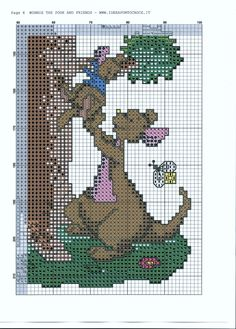 Winnie the Pooh and Gang Climbing Up A Tree 1/8