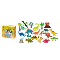 20 Dinosaur Magnets - Activity Toys - Toddler - Gifts