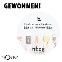 Wat leuk! Krista kocht bij ons een @noeser setje en wint daarmee een koeltas vol heerlijke ijsjes van @nicefruitijsjes. Gefeliciteerd Krista!