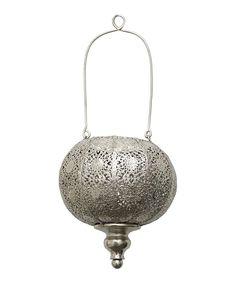 $26, 13 jan 2014. Look what I found on #zulily! Silver Pierced Lantern by Three Hands Corporation #zulilyfinds