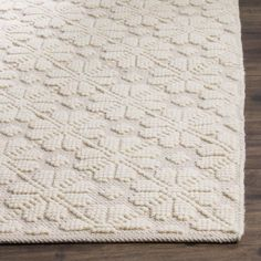 Shop the Rug - Color: Ivory; Size: x by Safavieh. Made from Wool, Cotton in India. This Hand Woven Ivory rug has a pile_height, perfect for a soft yet durable addition to your home. Room Rugs, Rugs In Living Room, Dining Rooms, Rug Texture, White Rug, White Area Rug, Accent Rugs, Woven Rug, Decoration