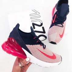 best website db949 33849 Nike Air Max 270 Flyknit – Blue White Red Bold and stylish, meet the new Nike  Air Max 270 Flyknit Women s Shoe in blue, white and red. Top new nike  sneakers ...