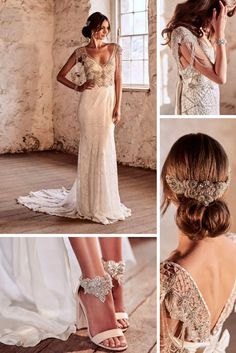 Vintage Inspired Wedding Dresses ❤ See more: http://www.weddingforward.com/vintage-inspired-wedding-dresses/ #weddingforward #bride #bridal #wedding