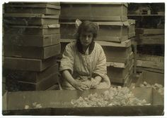 Corrinne Le May, 15 years old, bunching sweet peas at the Boston Floral Supply Co., 347-357 Cambridge Street. Said to be the only flower factory in Massachusetts. Location: Boston, Massachusetts. Date Created/Published: 1917 January 29. LOC original medium: 1 photographic print. Child labor photo by Lewis Wickes Hine.
