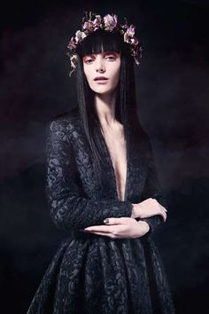 From The Miista Fall Collection 2013. -- Romantically Gothic Lookbooks on www.trendhunter.com