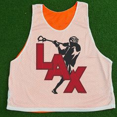 Jump Shot Silhouette Lacrosse Pinnie - Our 100% Polyester mesh pinnies are the top choice for comfort and performance. This reversible pinnie is moisture wicking and anti-microbial keeping you dry, odor free and comfortable.