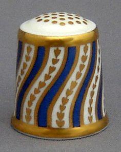 RP:  Royal Crown Derby Thimble - Spiral Stripe - etsy.com