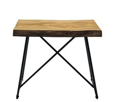 Old Times Stool Natural wood / Black leg by Zeus - Design £516