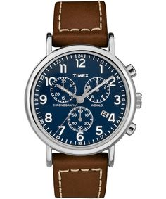 13c60a85cd2 The Weekender Chrono 2 Piece Leather Watch is the perfect addition for any  ensemble or any watch face.
