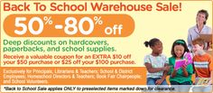 Scholastic Book Fairs Warehouse Book Sale! Check for dates