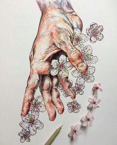So beautiful! Drawing by Noel Badgespugh (@noelbadgespugh).