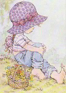 by Sarah Kay Sarah Key, Holly Hobbie, Sara Key Imagenes, Cute Images, Cute Pictures, Illustrations, Illustration Art, Coloring Books, Coloring Pages