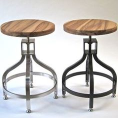 contemporary furniture by Five Twenty Two Industries- rolling industrial stool