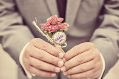 Best boutonniere ever!  Renaissance Studios Photography - Milton Toronto & Area Ontario Vintage Wedding Engagement Photographers