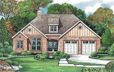 <div><div><ul><li>This petite Northwest house plan has transom windows and a lovely hip roof, with just enough square footage for a starter home or those who want to downsize.</li><li>Beautiful vaulted and tray ceilings make the home feel custom.</li><li>The L-shaped main living area unites the eating, cooking and living space into one large room.</li><li>Flex space off the foyer can be a home office, an extra bedroom or whatever you want it to be.</li><li>A tray ceiling crowns the master…