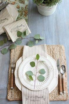 Farmhouse napkins free printable made from 1 yard of fabric - Farm Fresh Printable